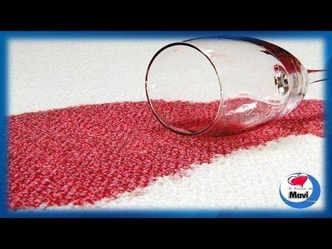 Trucos caseros para quitar manchas de vino en la ropa y alfombras - YouTube