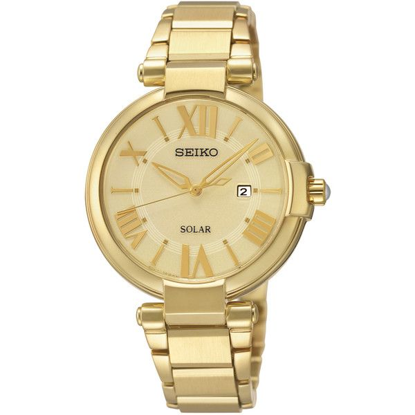 Seiko Recraft Series Solar SUT176 - Womens Watch ($214) ❤ liked on Polyvore featuring jewelry, watches and seiko watches