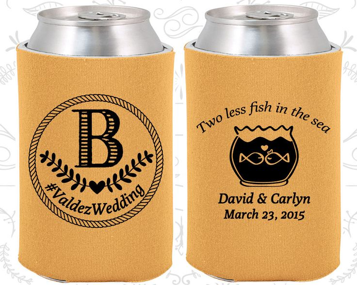 gold wedding can coolers gold wedding favors gold wedding gift gold wedding monogram