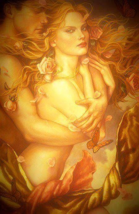 Eternal is the one whose Heart has awakened to Love - Hafiz ♥♥ Beautiful Artwork by Lauri Blank