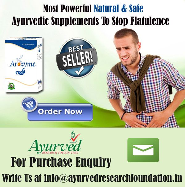 Flatulence when it becomes excessive can get into the lives of humans as it can create embarrassing situation at their workplace. Arozyme capsules are the best ayurvedic supplements to stop flatulence.