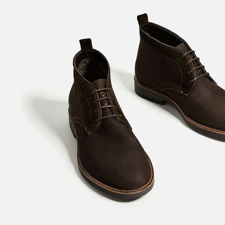 BLACK LEATHER DESERT BOOTS-Leather-SHOES-MAN | ZARA United Kingdom