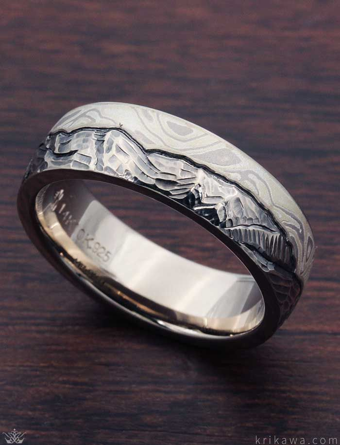 Tree Of Life Wedding Band Set In Natural White Gold Wedding Ring Trio Sets Heart Shaped Wedding Rings Cool Wedding Rings