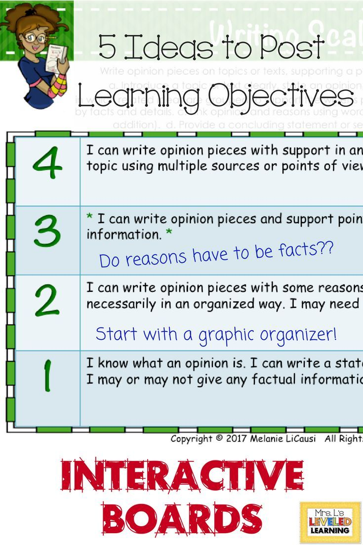 5 Ideas To Post Learning Objectives With Scales Teachers Learning Learning Objectives Instructional Strategies Teaching How to write learning objectives