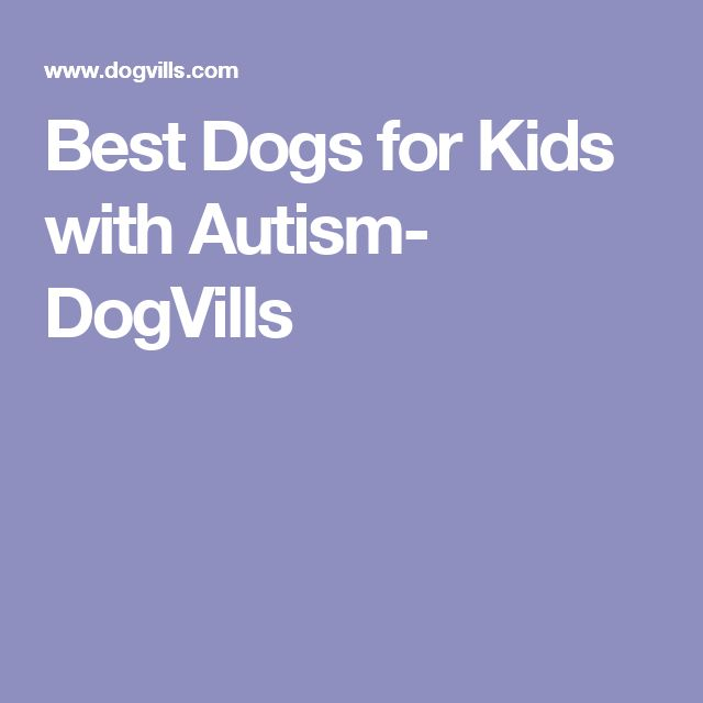 Best Dogs for Kids with Autism- DogVills