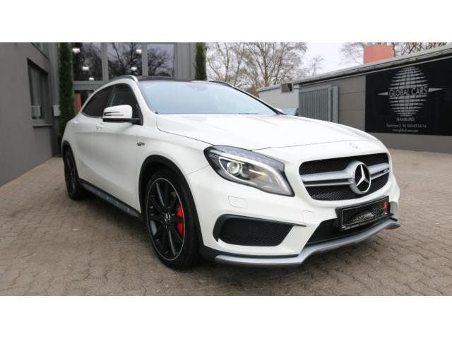 2014 Mercedes-Benz GLA45 AMG 4Matic €29,885.00 (Gross) / €24,904.00 (Net)  YOUNG STAR GUARANTEE TO 01-2019 AMG - STYLING 20 INCH AMG ALUMINUMS 10-STORE DESIGN IN BLACK SPORTSITZE LEATHER ALCANTARA BLACK WITH RED AMG SEAMS NAVIGATIONCOMAND APS WITH DVD AUTOMATIC / 7G-TRONIC DTC CLIMATE