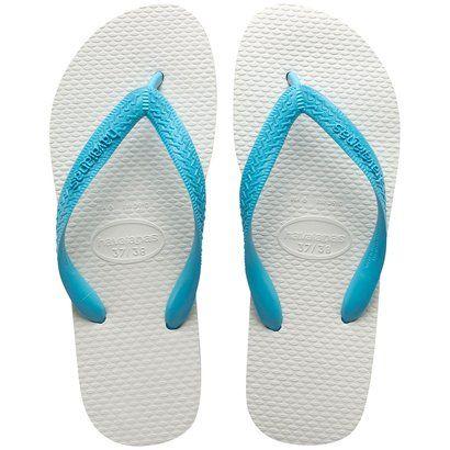Havaianas do Bem -  Legítimas Havaianas Branco/Turquesa - Compre uma destas e nós doaremos uma parte para ajudar alguém em algum lugar do Brasil e do mundo.