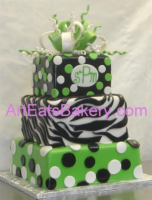 Animal print unique birthday cake design idea pictures ...