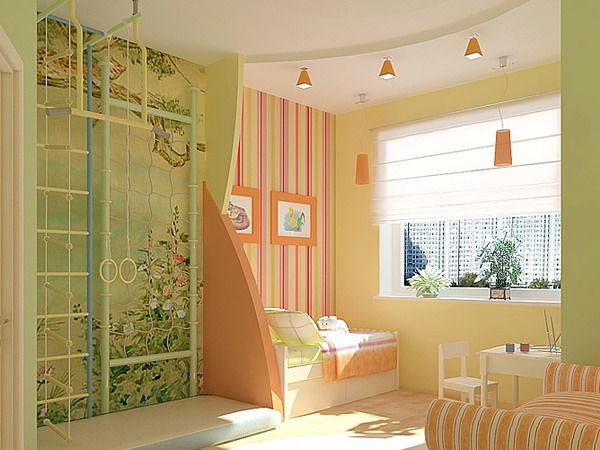 Стены в детской комнате: комбинируем обои, рисунки, оттенки, дизайнерские проекты. Обсуждение на LiveInternet - Российский Сервис Онлайн-Дневников