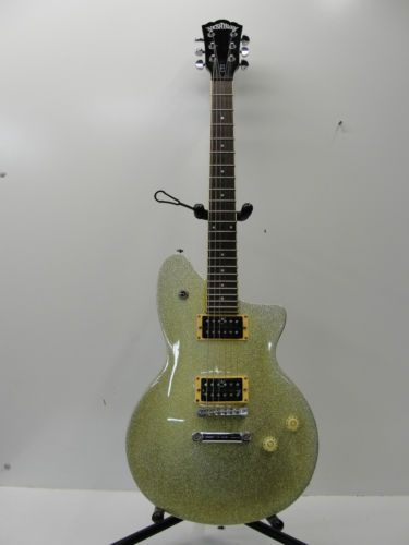 Washburn Electric Guitar CT2 Yellowish Green Glitter Body 2 Humbuckers | eBay