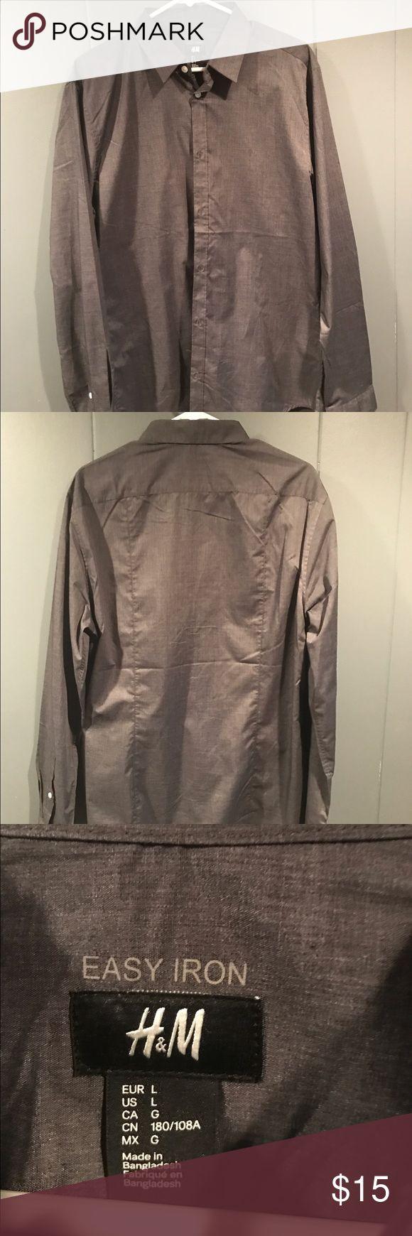 H&m Men's gray button down shirt by h&m H&M men's button down shirt Shirts Casual Button Down Shirts