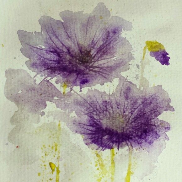 Watercolour flowers by Sarah Hogg