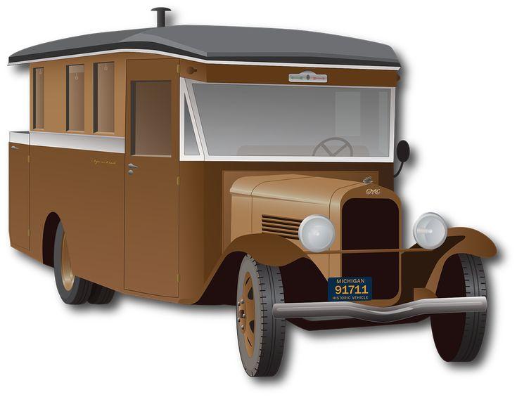 Automobil, Oldtimer, Autocamper, Lastbil, Bil, Vintage