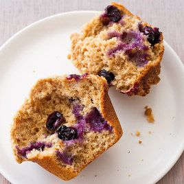 100% Whole Wheat blueberry muffins from Cooks Country TV