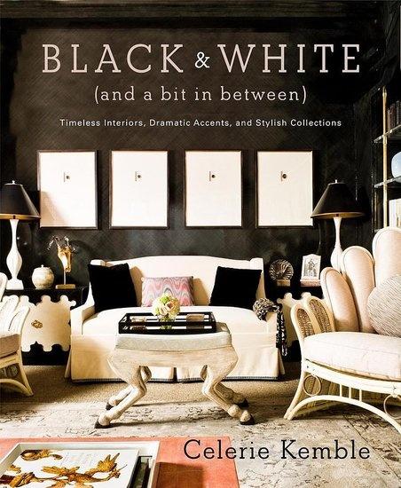 Interior design: Black And White, Color, Celery Kembl, Interiors Design, Modern Rooms, Design Books, Black White, Black Wall, Coff Tables Books