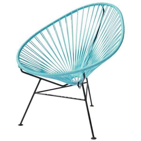 Acapulco chair, light blue, by OK Design.
