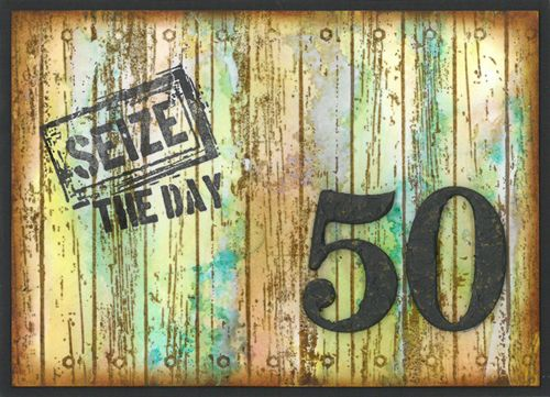 Stamp-it Australia: 4964D Seize the Day, siset109 Wood Planks - Card by Ursula