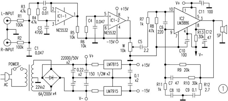 Super bass amplifier schematic diagram