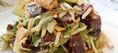 Παντζάρια σαλάτα με αβοκάντο και ντρέσινγκ πορτοκαλιού - ZannetCooks