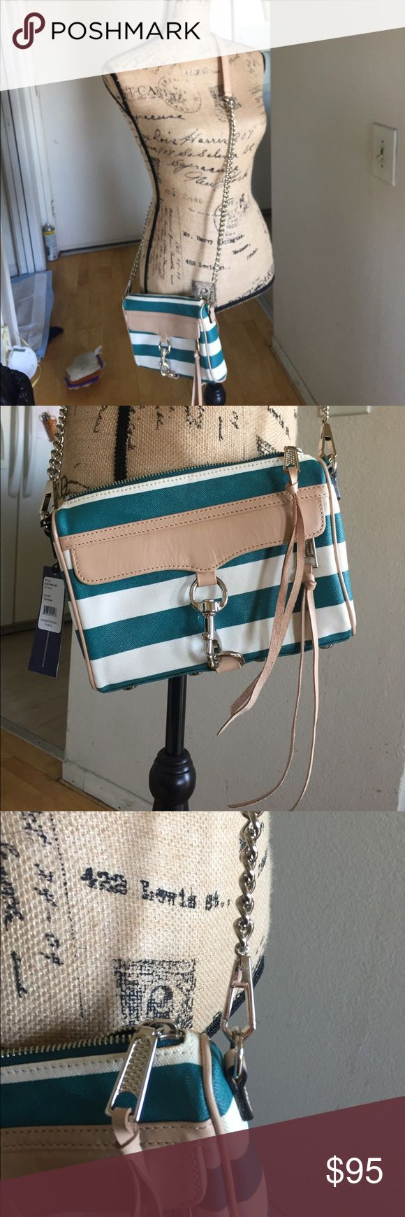 Rebecca Minkoff Teal Stripe Mini MAC Want to add a nautical summer feel to your outfit? This is the fashion accessory that you need! Rebecca Minkoff Bags Crossbody Bags