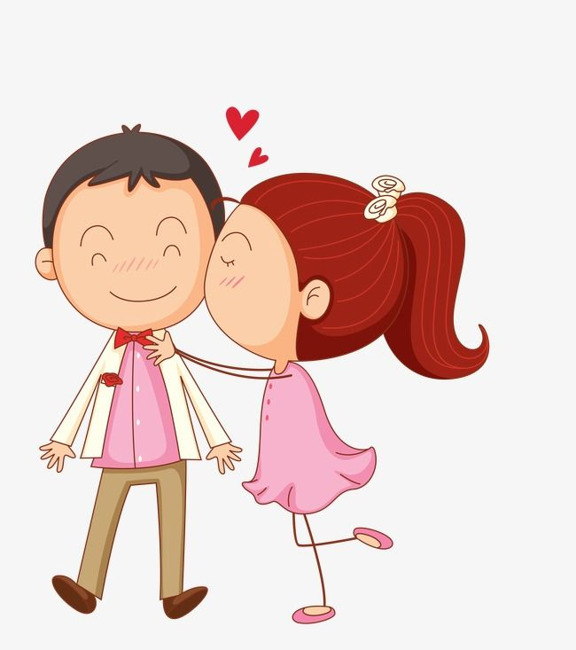 Cartoon Love Heart Couple Images Download