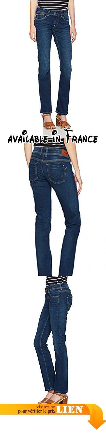 Jeans femme droit couleur