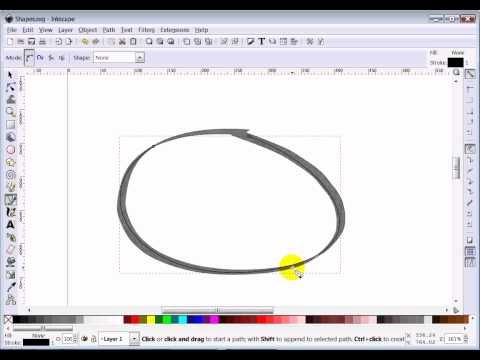 how to create shapes in inkscape