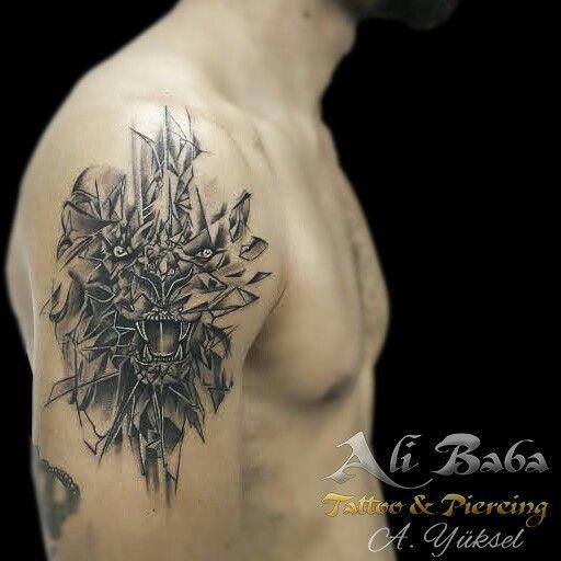 Bodrum dövme bodrum tattoo dovme lion tattoo leon tattoo geometric tattoo geometrik dövme aslan dövmesi geometrik aslan dövmesi ink bodybart