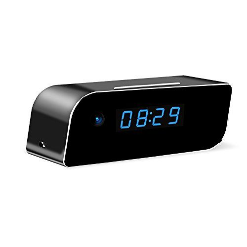 Wireless Security Wi-Fi Hidden Camera – UMANOR HD 1080P Video Spy Camera Clock with Motion Activatedd Alarming Live Video Viewing Nanny Cam