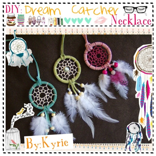 """DIY:Dream Catcher Necklace"" by the-tip-girls-of-narnia on Polyvore"