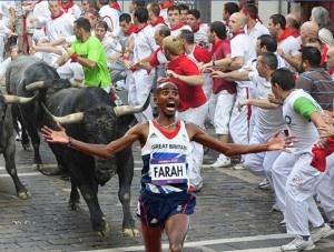 Mo Farah becomes an internet meme as he runs and runs