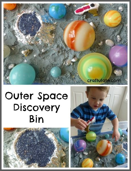 Outer Space Discovery Bin by Craftulate