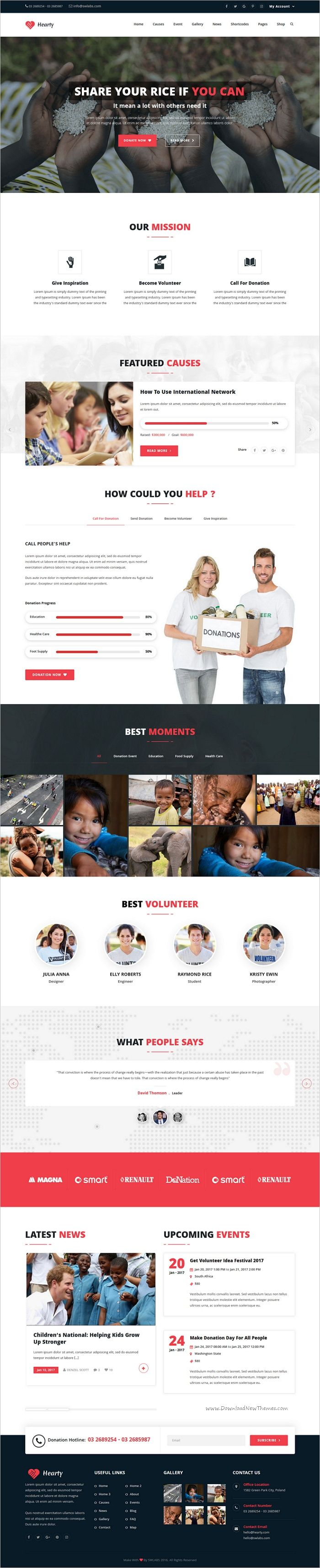 Hearty is a multiconcept responsive 4in1 #WordPress Theme especially for Charity, #NGO, non-profit organization or #foundation, campaign & event donation, religion or a fundraising website download now➩ https://themeforest.net/item/hearty-charity-nonprofit-fundraising-wordpress-theme/19226510?ref=Datasata