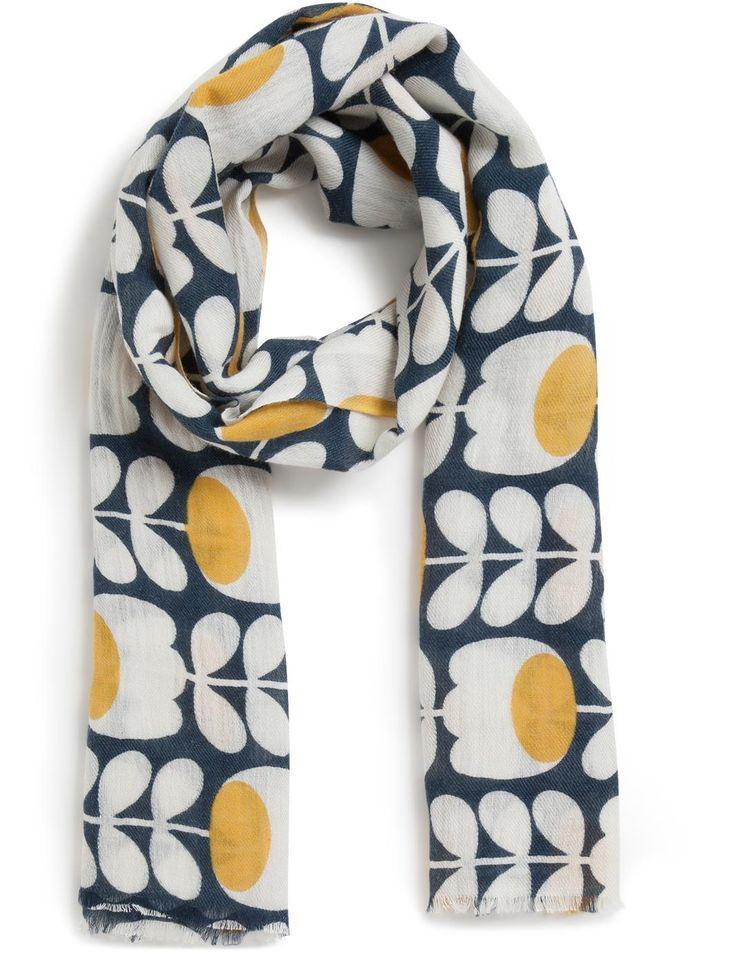 Etole imprimée tulipes - Orla Kiely pour Monoprix