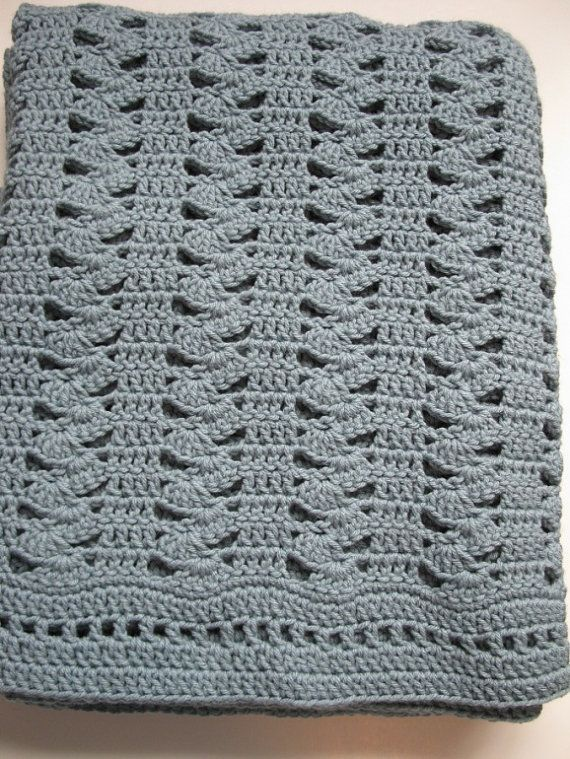 Easy Crochet Baby Blanket Shell Pattern : Crochet Afghan Pattern, Easy Crochet Blanket Pattern ...