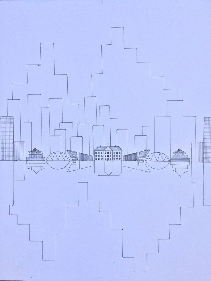 Stad illustratie myrthevanderlinden