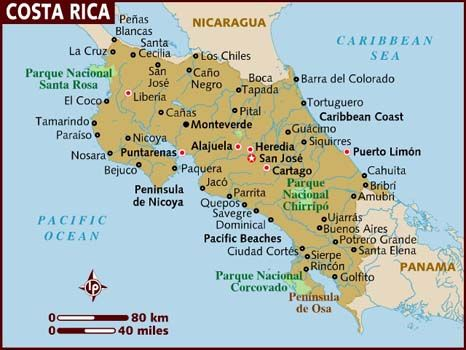 9 best costa rica images on pinterest pura vida ribs and map of costa rica gumiabroncs Image collections