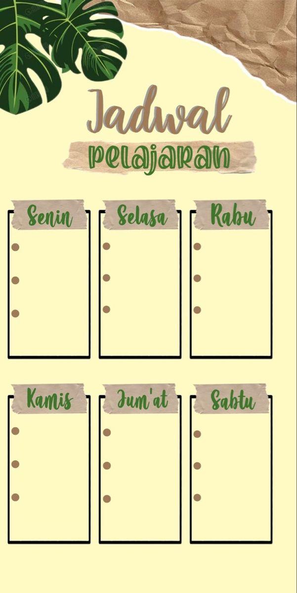 Pin Oleh Tita Di Template Poster Kelas Papan Jadwal Ilustrasi Pendidikan