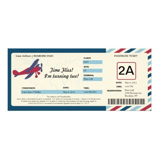 418 besten Airplane Birthday Party Invitations Bilder auf