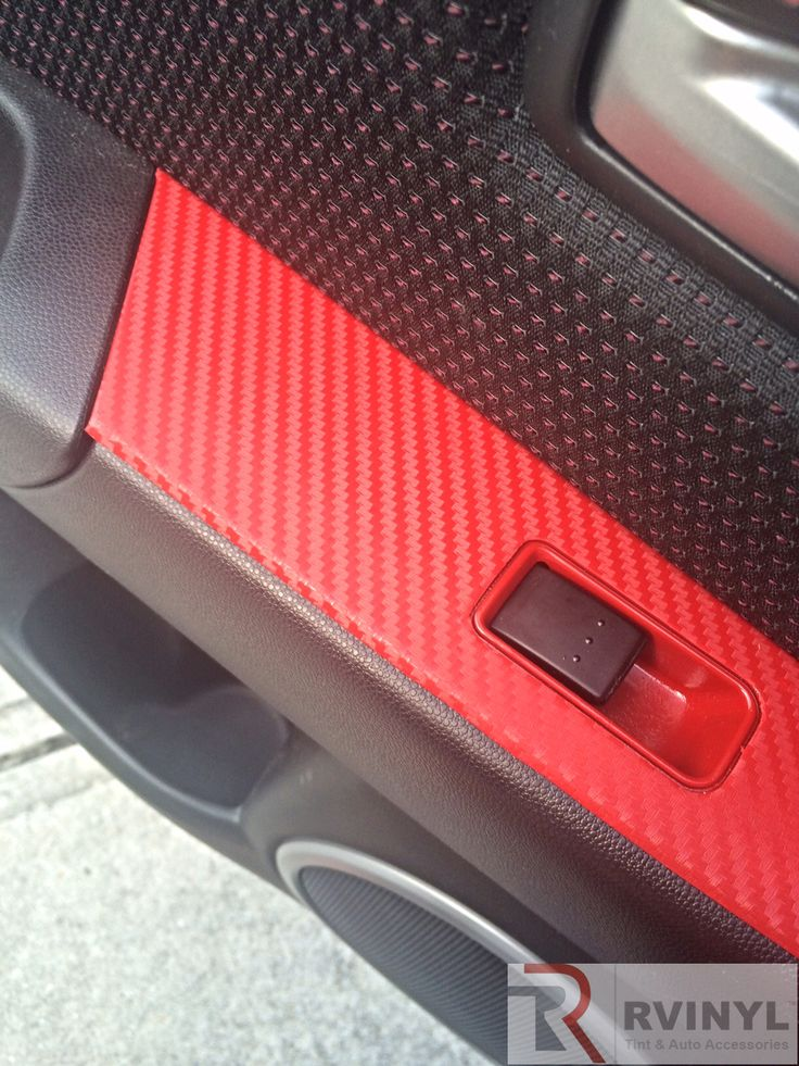 #RedCarbonFiber 2008 #Mazda 3 #CustomDash #VinylWrap
