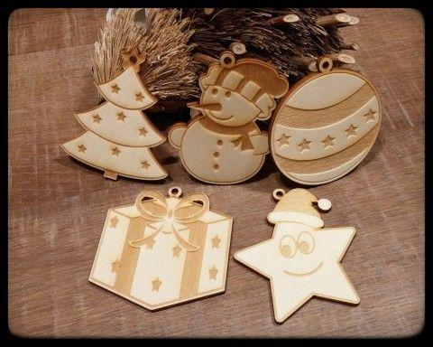 Simira - Vánoční ozdoby na stromeček 5 ks - stickywood
