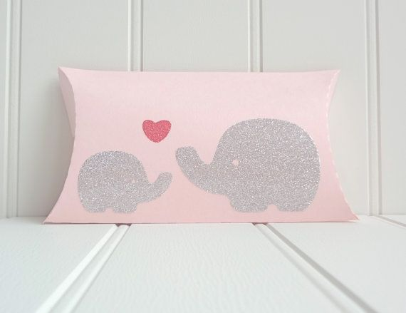 50 Large Mommy and Baby Elephant Pillow Favor by ThePaperBazaar, $98.87