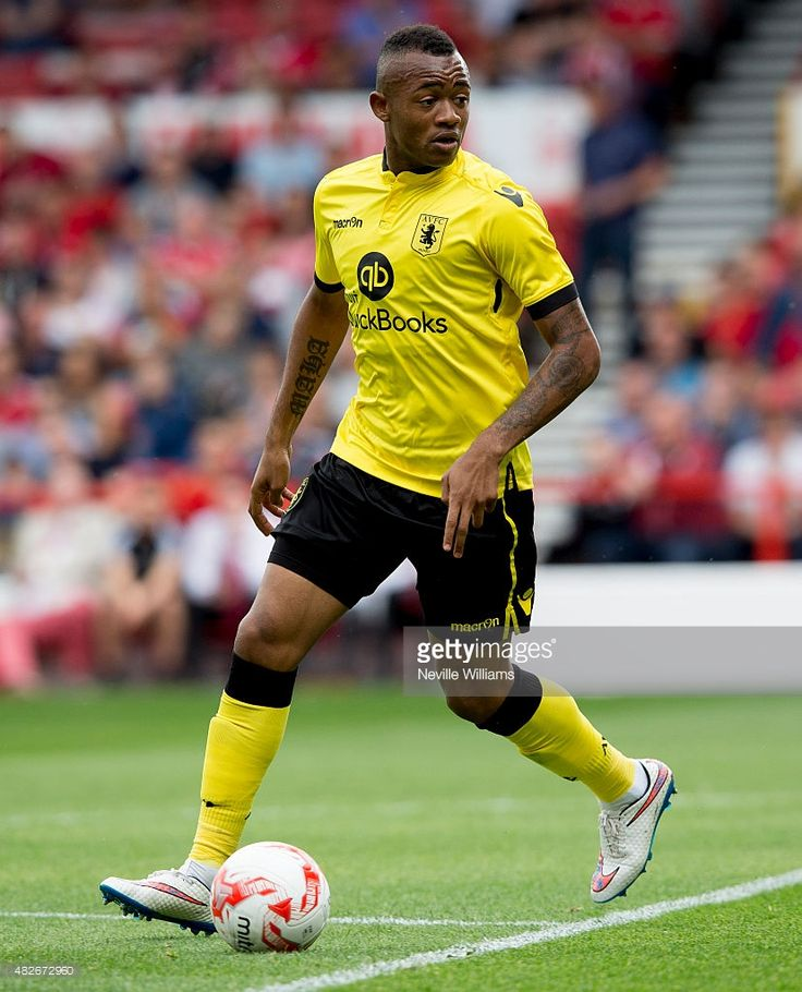 Jordan Ayew of Aston Villa during the pre season friendly match between Nottingham Forest and Aston Villa at the City Ground on August 01, 2015 in Nottingham, England.