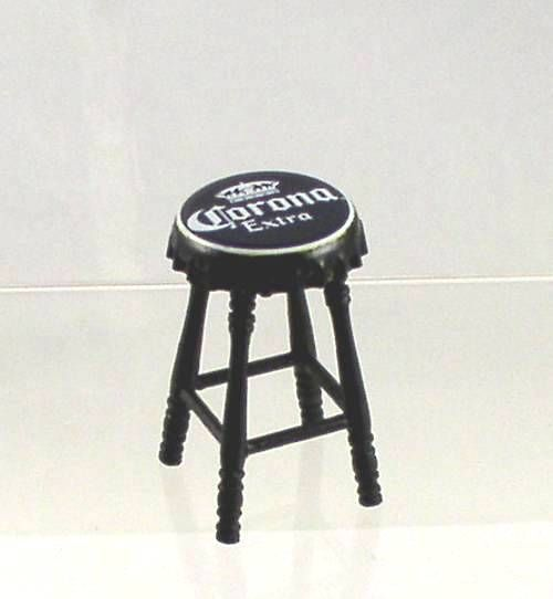 Cute!...Artisan Miniature Corona Beer Top Bar Stool