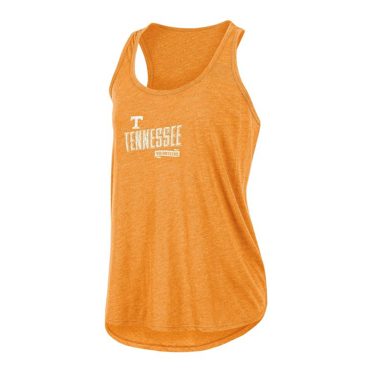 NCAA Women's Gameday Heathered Racerbank Soft Touch Poly Tank Top Tennessee Volunteers - XL, Multicolored