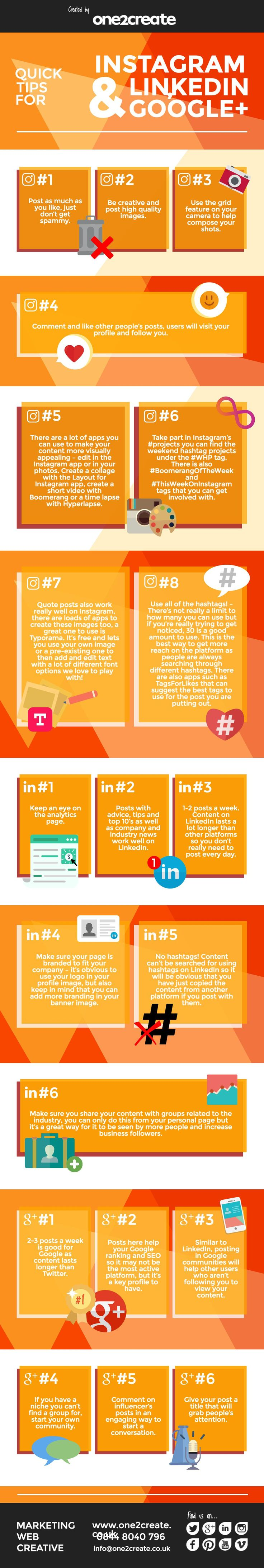 Social media is a great way to raise brand awareness. We've shared our tips for Instagram, Google + and LinkedIn in our infographic.   #infographic #Instagram #socialmedia #tips #contentmarketing