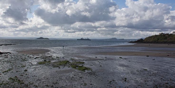 RFA Fort Victoria passing Kinghorn beach