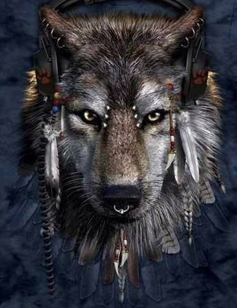 wolf spirit, How odd our pets would look with piercings #cultural #tattoo #tattoos