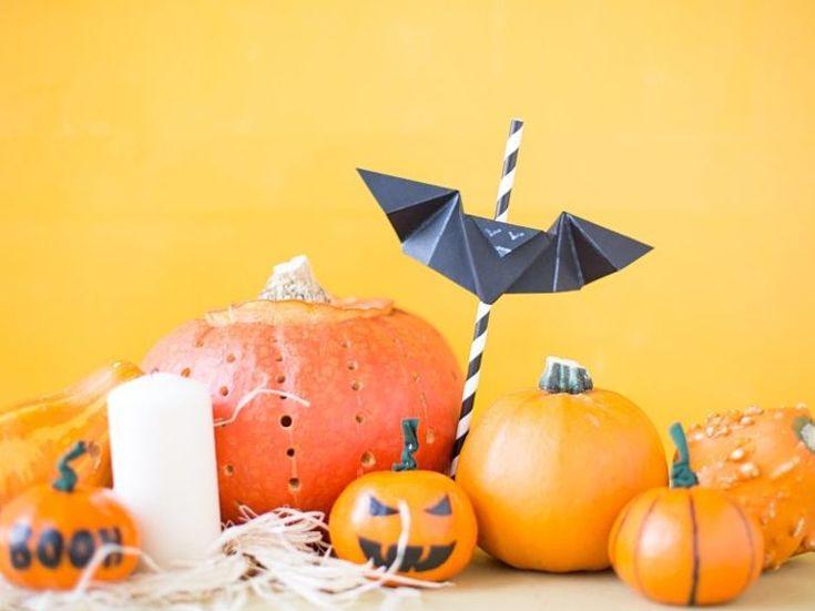 Origami Herbst Anleitung : DIY-Anleitung: Origami-Fledermaus am ...