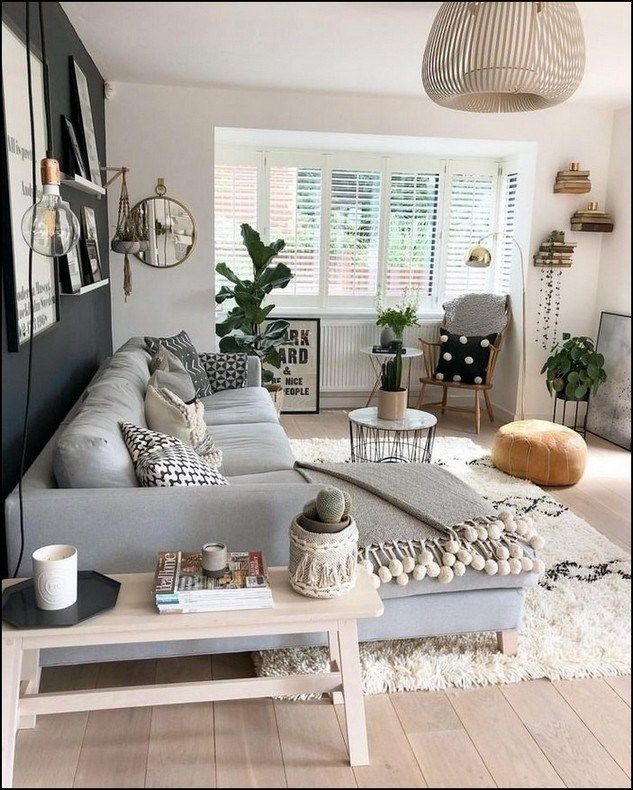 Light Gray Black And White Neutral Small Living Room In 2020 Living Room Decor Apartment Small Apartment Decorating Living Room Living Room Decor Modern #small #space #decorating #living #room